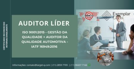 Treinamento Auditor Líder ISO-9001 + IATF-16949